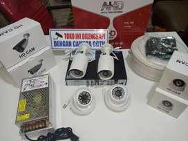 CCTV AHD 4ch kamera lensa 3mp hardis 500gb ,bekasi