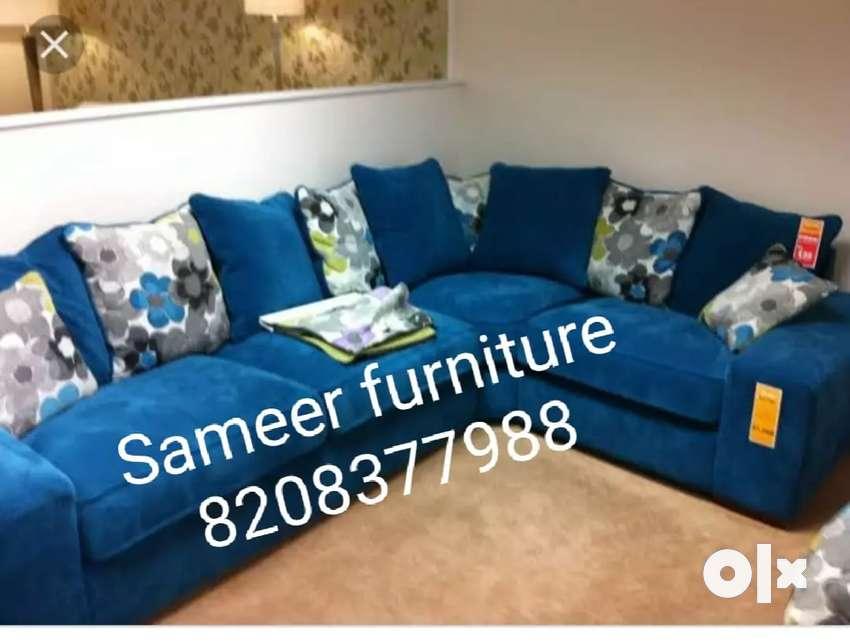 L shape sofa set curnar set 473