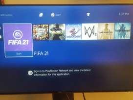 Ps4 slim 500GB with latest  games Installed non jailbreak