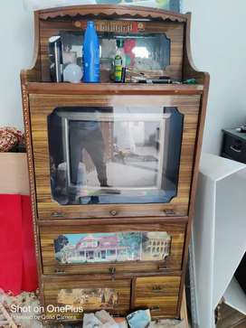 TV Trolley with CRT TV for sale!!!
