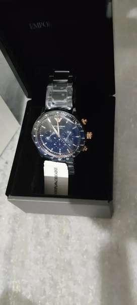 Not used Emporio Armani Mario Black Watch AR70002