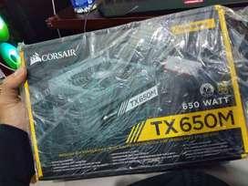 Corsair TX650M SMPS - 650 Watt 80 Plus Gold Certification Semi Modular