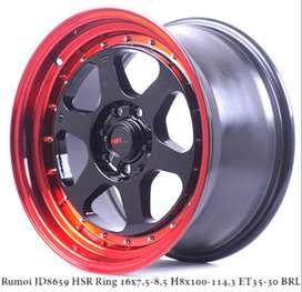 Jual Velg ori RUMOI JD8659 HSR R16X75/85 H8X100-114,3 ET35/30 BK/REDL