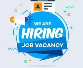We are hiring with good communication skills..