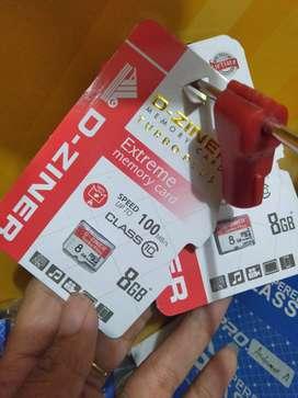 kartu memori memory card micro sd d-ziner 8gb class10 (sinar kita)