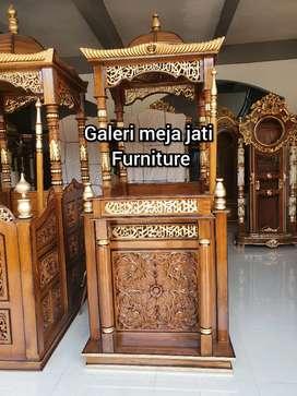 Mimbar masjid kualitas kayu jati B33 talk