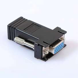 VGA Extender Female to LAN CAT5 CAT6 RJ45 Network Cable Adapter