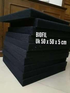 Media filter biofil ukuran 50x50x5 cm untuk kolam ikan koi
