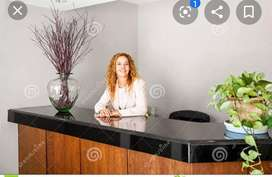 Receptionist are required in offices and Ltd companies freshers can ap