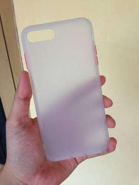 Matte Clear Softcase Iphone 7 Plus 8 Plus - Putih