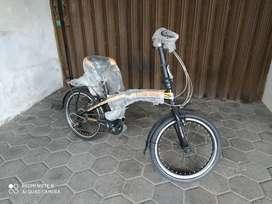Sepeda Lipat Interbike ukuran 20 inch 7 speed baru gress.