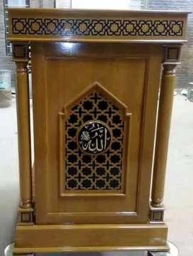 mimbar masjid kayu jati new