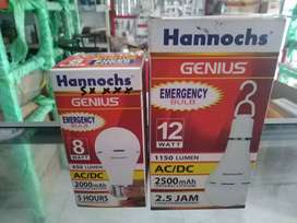 Lampu LED 12 watt Hanncohs emergency bulb