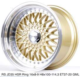 VELG MOBIL TYPE RS JD35 HSR R16X8/9 H8X100-114,3 ET37/20 GOLD/ML
