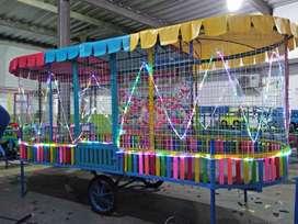 playground kolam mandi bola gerobak odong full lampu hias 11o