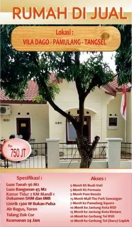 dijual rumah di Villa Dago - Pamulang