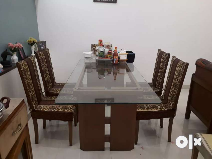 Glass top dining table 0