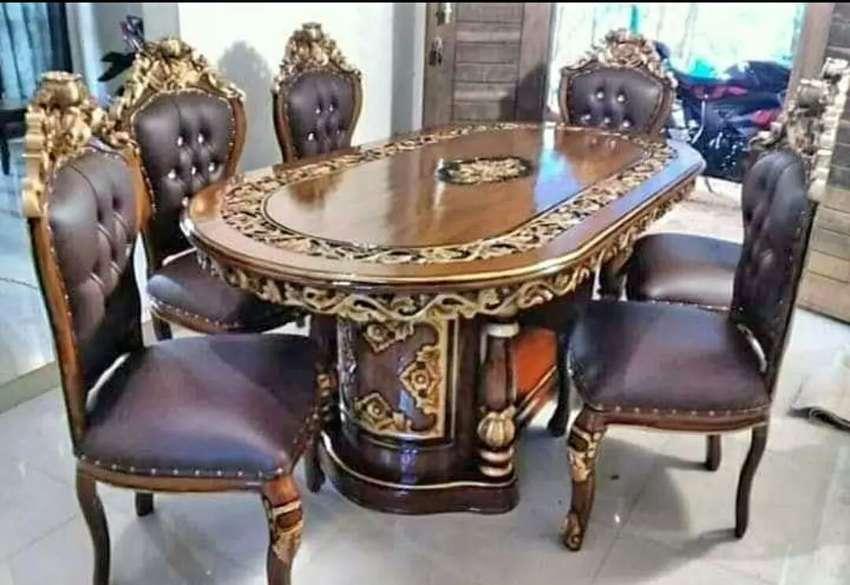 Meja makan kursi siap kirim 0