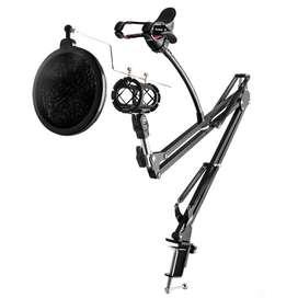 TaffSTUDIO Condenser Microphone Stand Holder 360 Lazypod Clamp Profess