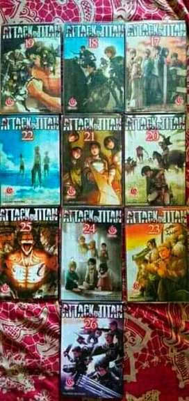 vol 17-26 ATTACK on TITAN ex kolpri Lumayan Mulus