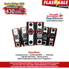 Speaker Aktif Subwoofer usb radio memori remot & bluetooth