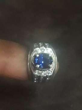 Blue Safir Ring Silver