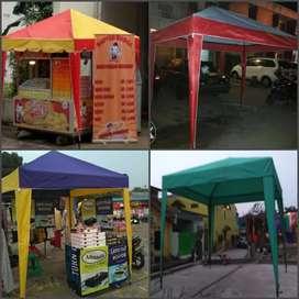 Tenda lipat usaha di pinggir jalan bayar dtmpat