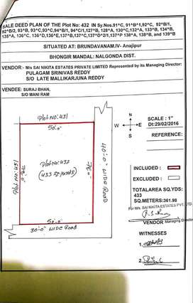 Open plots for sale at Bhongir Anajipuram 433 Sqyrds.. call now