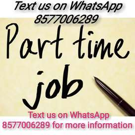 Offering part time jobs data typing...