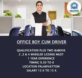OFFICE BOY CUM DRIVER
