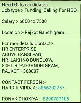 Funding, calling for NGO