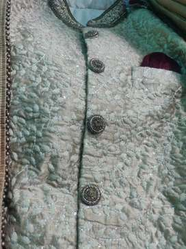 Golden Wedding sherwani one time used only