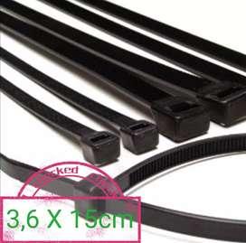 Cable ties 3,6 x 15cm / kabel tis tali krek klem segel ikat