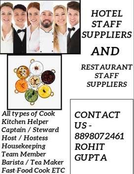 We Provide -All Kitchen Staff & Hotel Rest Staff In Surat Location