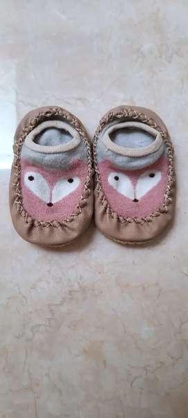 Sepatu Kaos Kaki Prewalker Anak Bayi Pink Fox