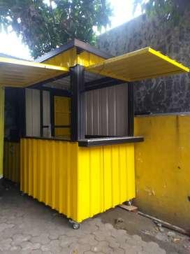 Rombong Booth Konteiner Makanan minuman murah