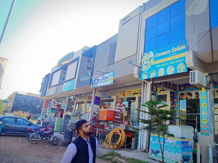 G13/4 islamabad unit for sale shop+shop+flat income rent 38500 RS 0