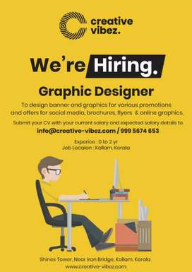 Graphics designer with 2 years exp