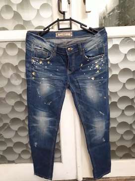 Celana Jeans Biru Cewek Size 28 Impor Murah Kondisi 95% Murah