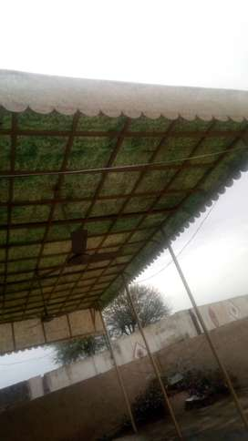 Fabrics roof size almost 25*15 feet