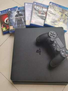 PS4 Slim 500 GB, 10 months old, Used 2-3 times only