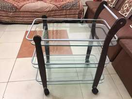 High Quality Glass Tea Trolley in 10/10 Condition