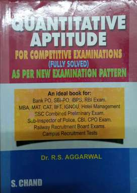 Quantitative Apptitude for Competitive examinations- RS Aggarwal