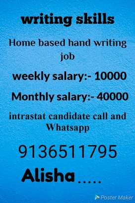 Simple hand writing part time work