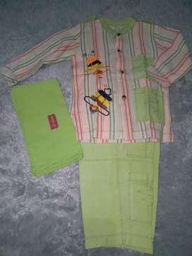 Set baju takwa anak merk dannis usia 3y