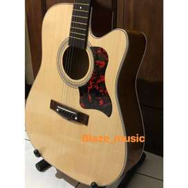 Gitar Akustik Yamaha F500 Jumbo paket lengkap