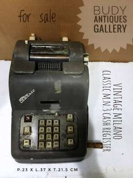 Vintage Classic Milano Model M.N.3 Cash Register Made In Italy