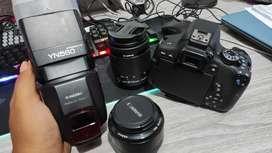 Canon 750 d lengkap mulus