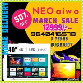 "MADURAI OFFER NEOAIWO 40"" SMART ANDRIOD 4K LEDTVS 3 YEARS WARRANTY"