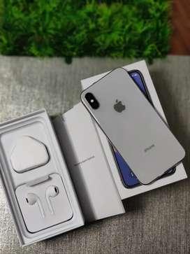 iPhone , Iphone X 64Gb Silver Fullset Mewah Muluss